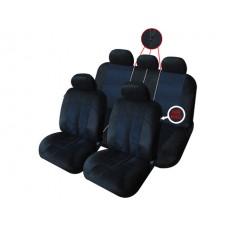 Комплект автомобильных чехлов iSky VELVET , черного цвета