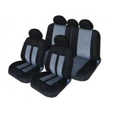 Комплект автомобильных чехлов iSky VELVET , серого цвета