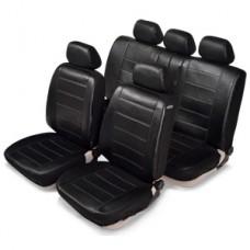 Комплект автомобильных чехлов SENATOR Кожа Madrid. Черные