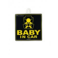 """Информационный знак """"Ребенок в машине"""" на присоске"""