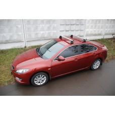 Багажник в комплекте с аэродинамическими дугами для а/м Mazda 3 (седан) 2003 -2009