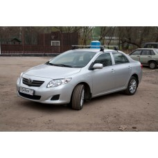 Багажник в комплекте с прямоугольными дугами Toyota Corolla (седан) 2006-...