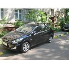 Багажник в комплекте с аэродинамическими дугами для а/м Hyundai Solaris (седан) 2010-...