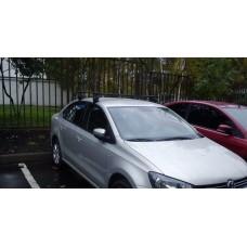 Багажник в комплекте с прямоугольными дугами для а/м Volkswagen Polo (седан) 2010-...