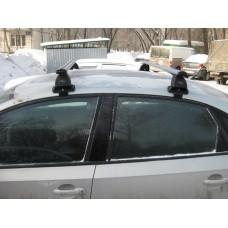 Багажник в комплекте с аэродинамическими дугами для а/м Volkswagen Polo (седан) 2010-...