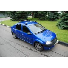 Багажная система c прямоугольными дугами для а/м Renault Logan и Renault Sandero 1,2м