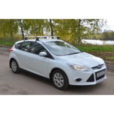 Багажник в комплекте с прямоугольными дугами в пластике для а/м Ford Focus III (седан) 2011-...