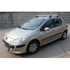 Багажник в комплекте с аэродинамическими дугами для а/м Peugeot 307 (хэтчбек) 2001-2008