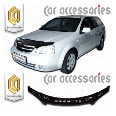 Дефлектор капота (Черный) для Chevrolet Lacetti