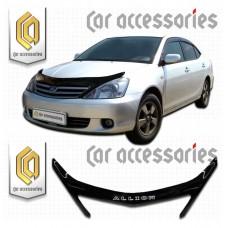 Дефлектор капота (Черный) для Toyota Allion