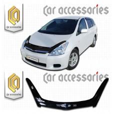 Дефлектор капота (Черный) для Toyota Wish