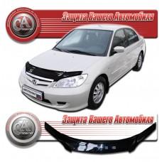 Дефлектор капота (Черный) для Honda Civic