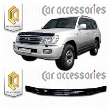 Дефлектор капота (Черный) для Toyota Land Cruiser 100
