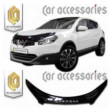 Дефлектор капота (Черный) для Nissan Qashqai