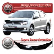 Дефлектор капота (Черный) для Volkswagen Polo седан