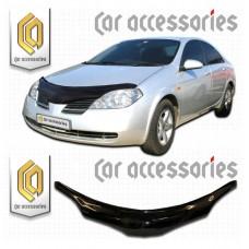 Дефлектор капота (Черный) для Nissan Primera