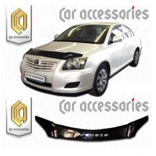 Дефлектор капота (Черный) для Toyota Avensis