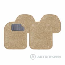 Вкладыши ковролиновые AUTOPROFI, для ковриков TER-500i. Бежевые.