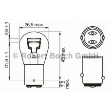 Автолампа Bosch P21/5W Pure Light