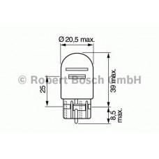 Автолампа Bosch W21/5W Pure Light