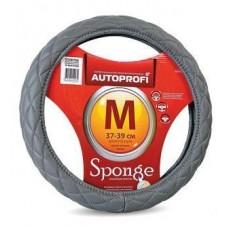 Оплетка на рулевое колесо спонжевая . Серая Размер 37-39 см. М