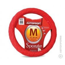 Оплетка на рулевое колесо спонжевая . Красная Размер 37-39 см. М