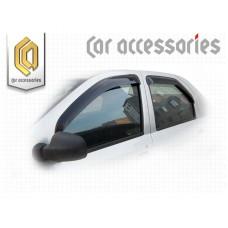 Ветровики дверей (Полупрозрачный) для Renault Logan
