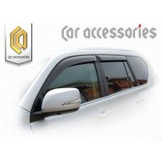 Ветровики дверей (Полупрозрачный) для Toyota Land Cruiser Prado 150