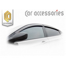 Ветровики дверей (Полупрозрачный) для Hyundai Solaris седан