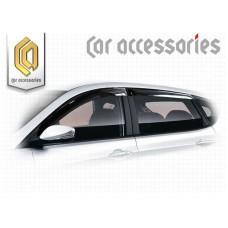 Ветровики дверей (Полупрозрачный) для Hyundai Solaris Хетчбэк