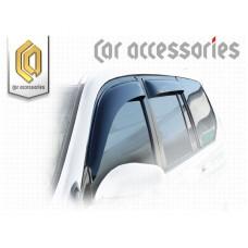 Ветровики дверей (Полупрозрачный) для Toyota Land Cruiser Prado